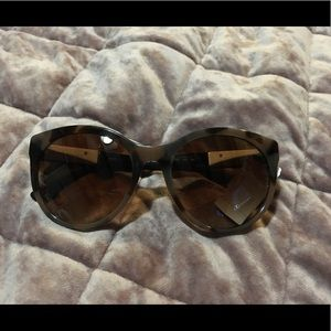Burberry Tortoiseshell Cat-Eye Sunglasses